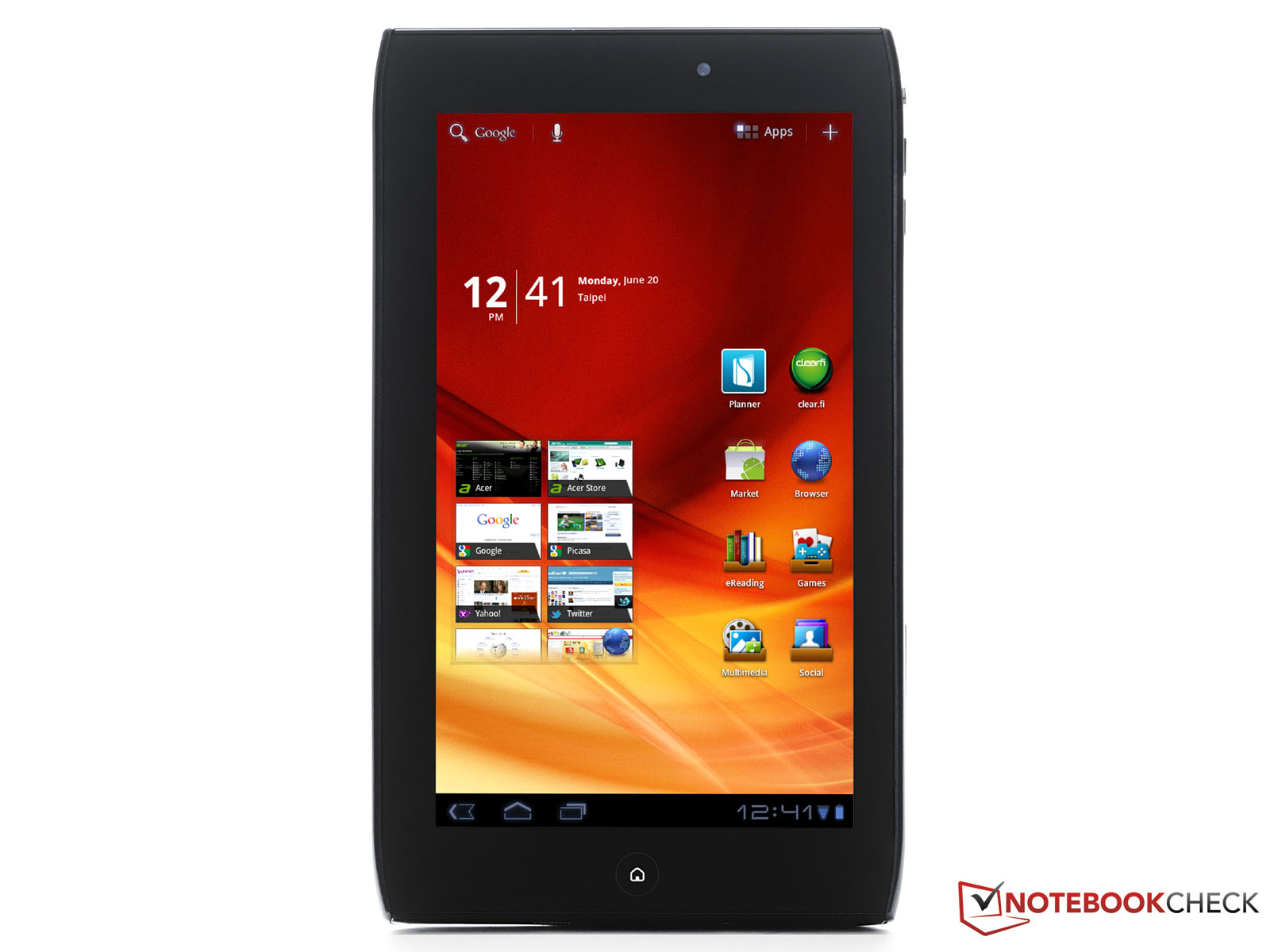 Testrapport Acer Iconia Tab A100 Tab