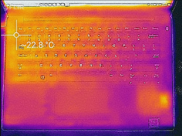 Thermal profile, idle (top)