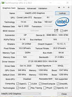 GPU-Z (Intel UHD Graphics)