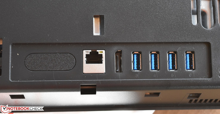 Rear: Gigabit Ethernet, DisplayPort, USB 3.1 x 4