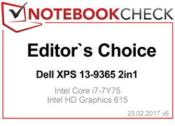 Editor's Choice Award in Februari 2017: XPS 13 9365 2-in-1