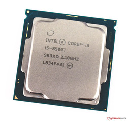 De Intel Core i5-8500T desktop-processor. Testmodel voorzien door caseking.de.