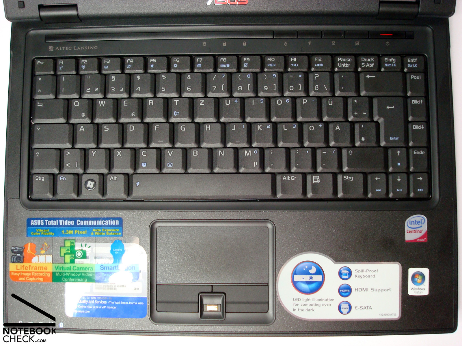 Testrapport Asus B80A Notebook - Notebookcheck.nl