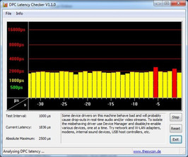 DPC Latency Checker zonder WLAN of function tool