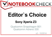 Editor's Choice in October 2014: Sony Xperia Z3