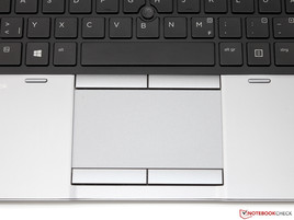 Touchpad en trackpoint