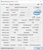 Systeem info: GPU-Z Intel HD Graphics 620