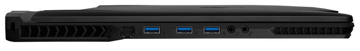links: Gigabit Ethernet, 3x USB 3.1 Gen. 1 (Type-A), hoofdtelefoon, microfoon