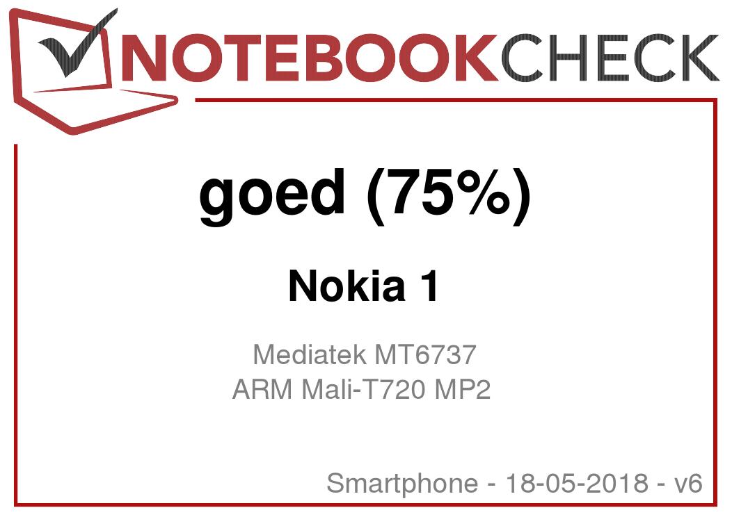 Kort testrapport Nokia 1 Smartphone - Notebookcheck.nl