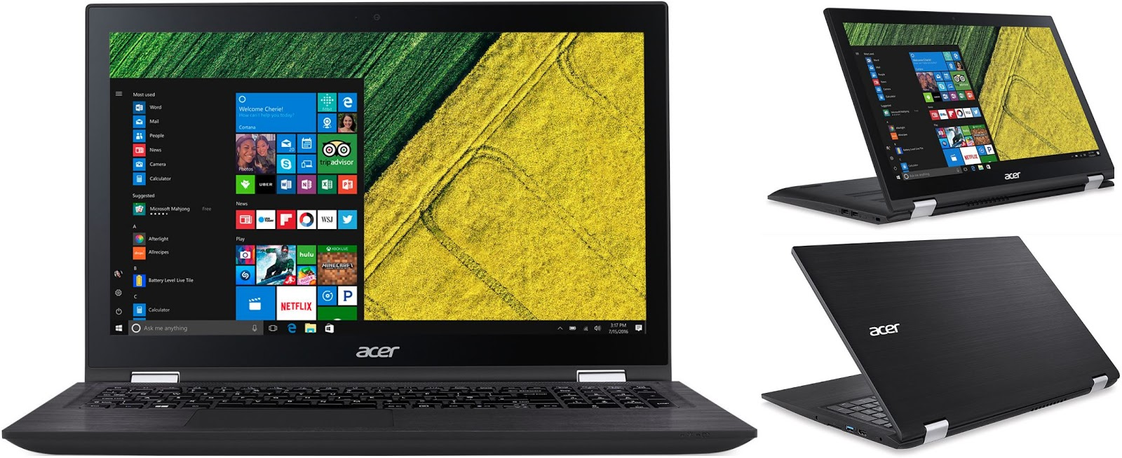 Acer Spin 3 SP314 serie Notebookcheck.nl
